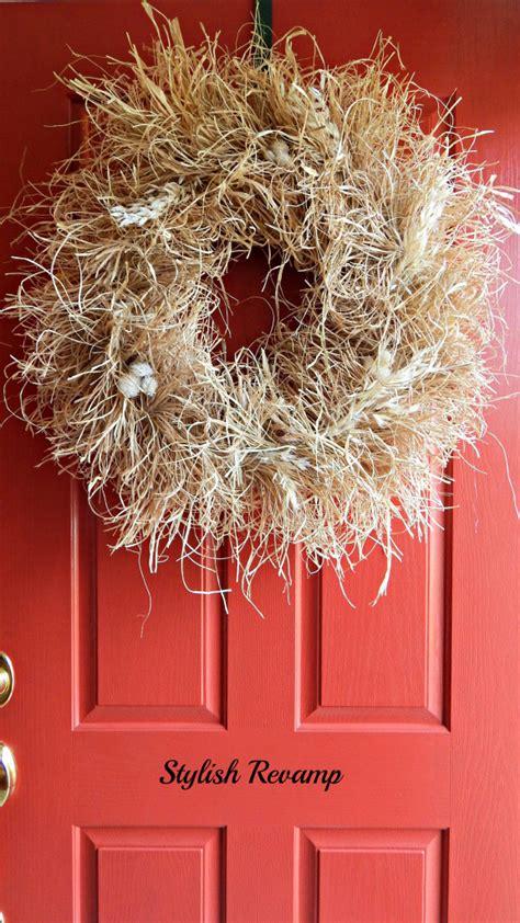 diy fall wreaths front door 13 diy fall wreaths for your front door dailyscene