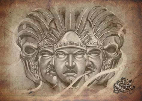 chicano art tattoos chicano flash drawings pictures to pin on