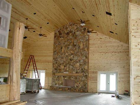 Pine Interior Walls by Pine Log Siding Ranch House Buffalo Lumber