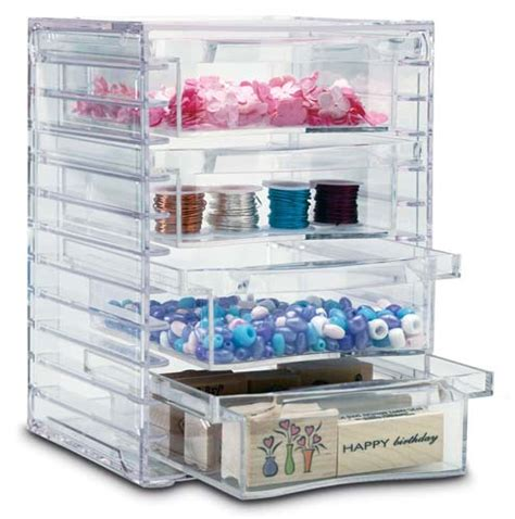 Four Drawer Acrylic Storage Chest In Craft Storage