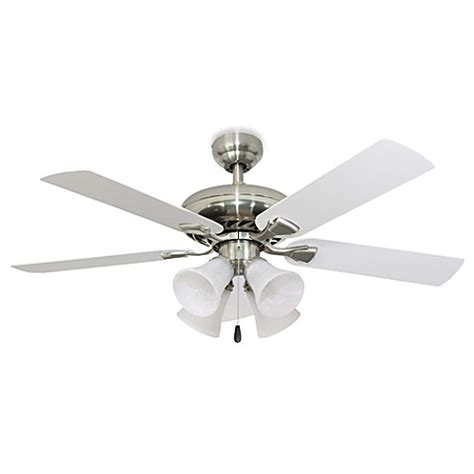 Ceiling Fan Brushed Nickel With Light Federal Hill 52 Inch 4 Light Ceiling Fan In Brushed Nickel Bed Bath Beyond