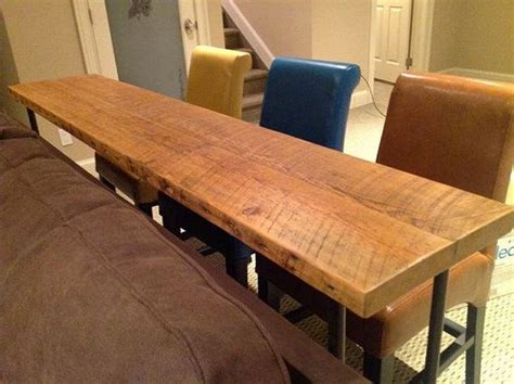 bar height sofa table bar table or console table size requests welcomed 66 quot l