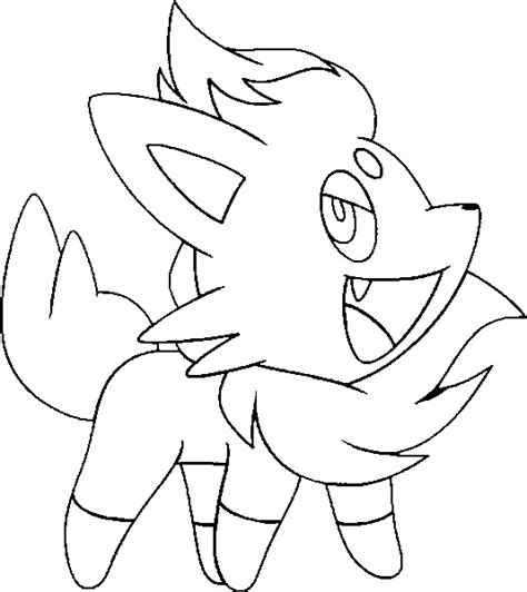 pokemon coloring pages of zorua coloring pages pokemon zorua drawings pokemon
