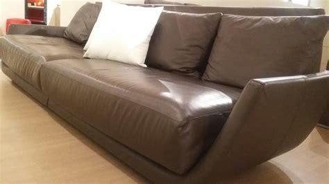 divani scontatissimi divano design in vera pelle desir 233 e gruppo euromobil