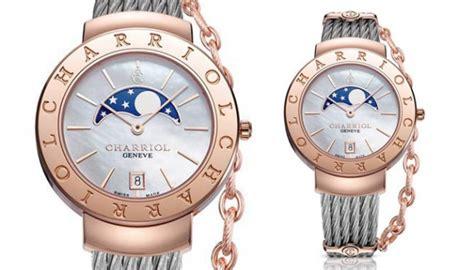 Jam Tangan Charriol ini penakan khusus jam dengan penunjuk fase bulan