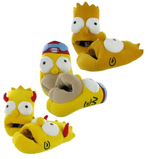 boys simpsons slippers new mens boys simpsons 3d novelty comfort warm slip on