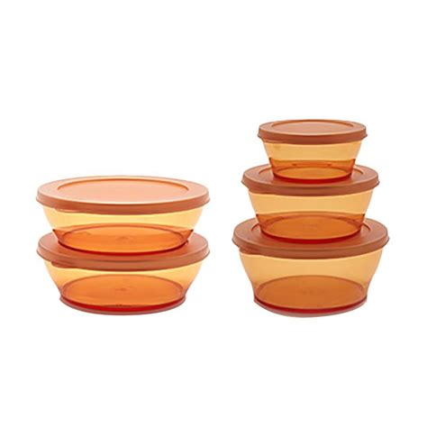 Tupperware Clear Bowl Set 2 jual tupperware clear bowl set gold 5 pcs