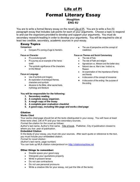 Of Pi Essay Topics by Of Pi Essay Topics Resume Sle Mba Resume Essay Topics For The Of Pi Resume