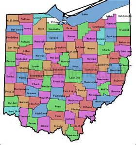 Counties In Ohio Map by Free Ohio Maps