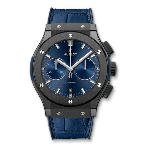Hublot Classic Fusion Turbillon Blue Black Leather classic fusion ceramic blue chronograph 45mm