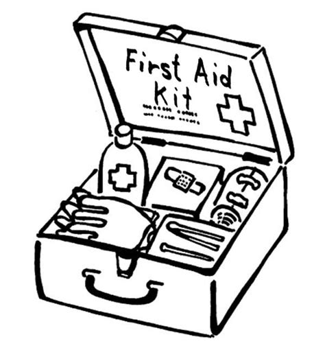 coloring book kits aid box for purposes coloring page