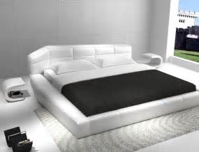 betten traum modern furniture stores leather bed in white