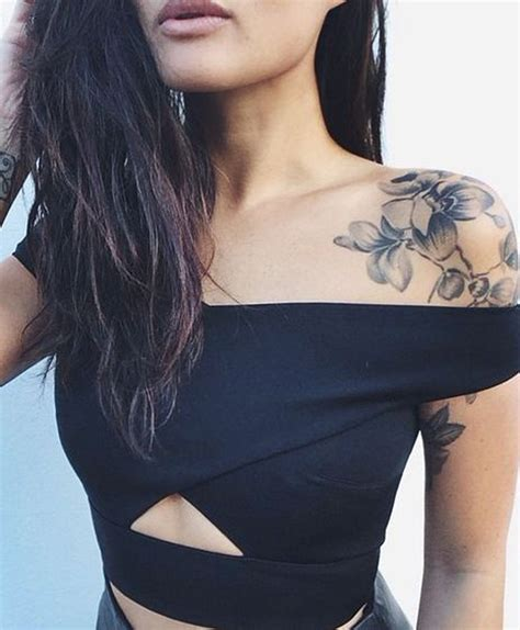 popular girl tattoos tattoos for on top of shoulder www pixshark