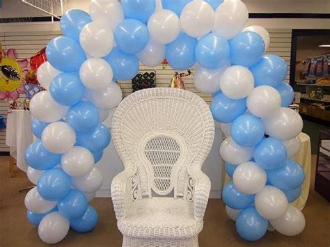 Balloon Arch Baby Shower by Baby Shower Balloon Decor Balloon Arch And Chair