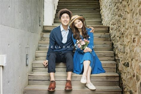 Casual Wedding Photoshoot by Pre Wedding Photography In Korea Blue And Navy