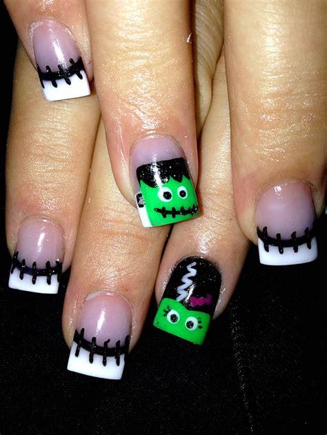 halloween frankenstein nail art 14 halloween frankenstein nail designs top new simple