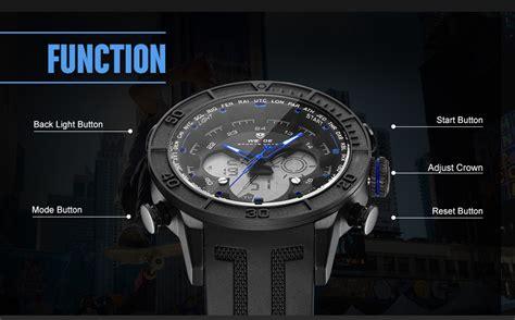 Weide Japan Quartz Silicone Putih Silver Stainless Steel weide jam tangan digital analog stainless steel