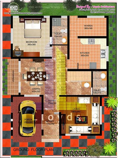 home design for 2000 sq ft area 2000 sq feet villa floor plan and elevation kerala home
