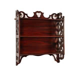 antique wall shelving antique chippendale style wall shelves antique mahogany