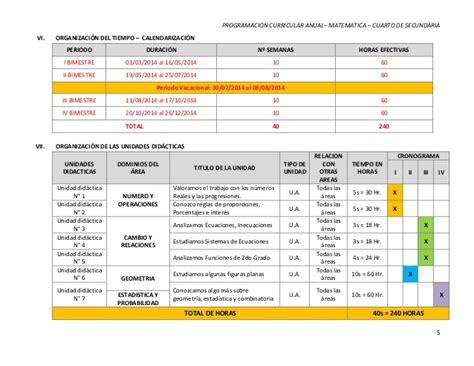 programacin curricular anual de sexto grado 2014 con rutas 001 programacion curricular anual cuarto grado ok