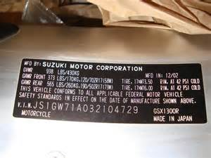 Where Is The Vin Number On A Suzuki Atv Vin Number Help