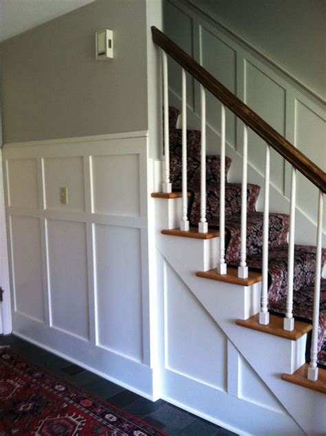 Wainscoting Colors by Wainscoting In Front With Revere Pewter And Linen