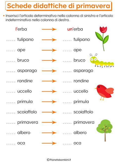 testi sulla primavera scuola primaria schede didattiche sulla primavera per la scuola primaria