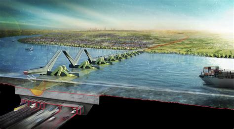 thames barrier power generation thames hub airport london building e architect