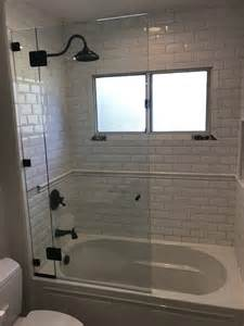 frameless glass shower enclosure tub patriot glass