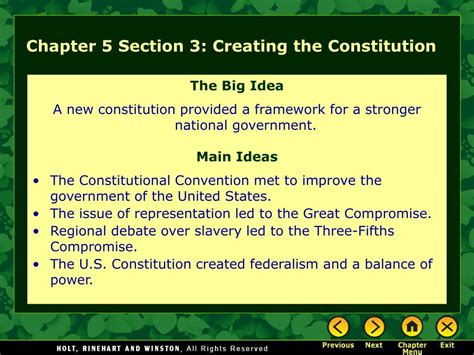 section 3 constitution ppt chapter 5 section 1 the articles of confederation