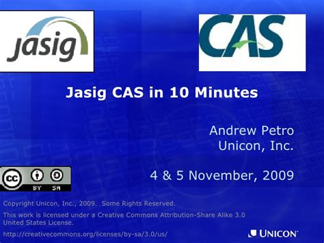 cas sso jasig central authentication service in ten minutes
