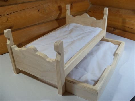 18 inch doll beds wooden trundle bed made for 18 inch doll crafts pinterest