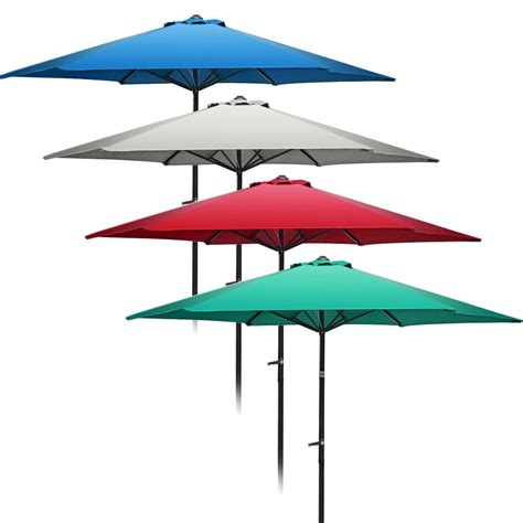 Patio Table With Umbrella 9 Ft 10 Ft Aluminum Umbrella Market Umbrella Table Patio Yard Outdoor Ebay