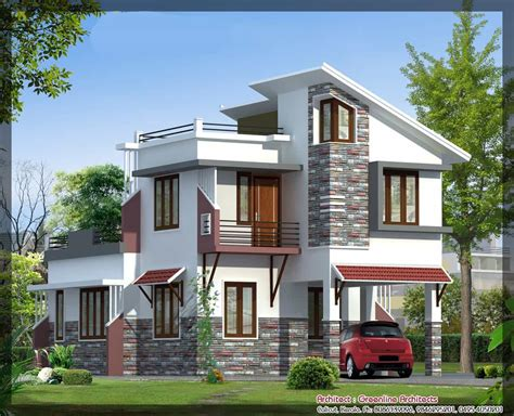 villa elevation at 1577 sq ft