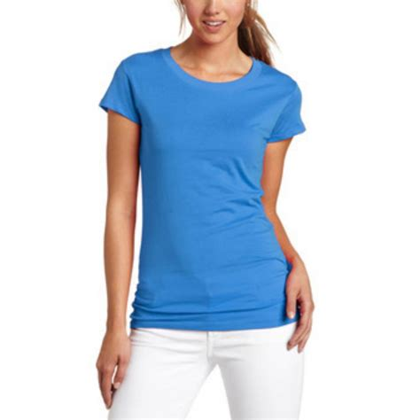 Hl Plain Shirt s sleeve basic solid plain scoop neck cotton t