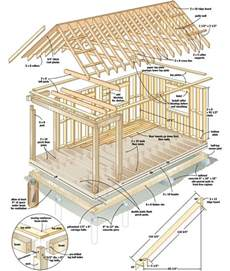 cabin blueprints free free plans build your own cabin for 4 000 tiny