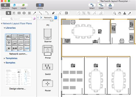 network layout floor plan concept draw creating a network layout floor plan conceptdraw helpdesk