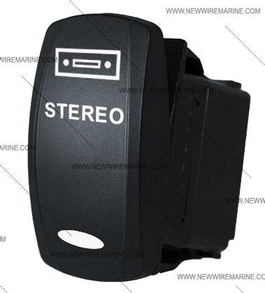 boat stereo rocker switch stereo illuminated rocker switch contura v backlit