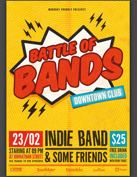 free band poster templates 30 great flyer templates free premium web3mantra