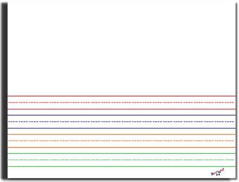 lined preschool lined paper