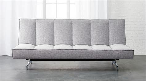 flex microgrid grey sleeper sofa cb2