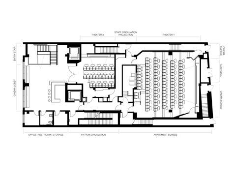 Cinema Floor Plan | nitehawk cinema and apartments