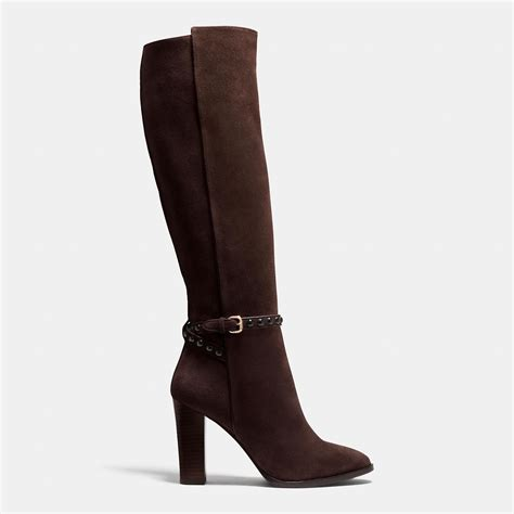 coach angela boot in brown lyst