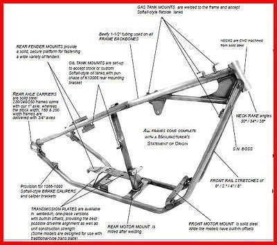 new kraft tech rigid frame harley chopper bobber
