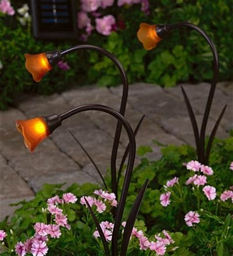 solar flower lights solar flower lights backyard