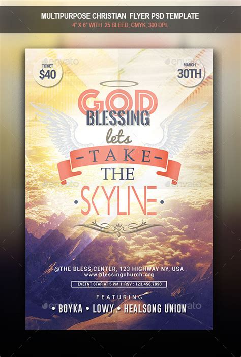 Multipurpose Christian Flyer By Boykahn Graphicriver Christian Flyer Templates Free