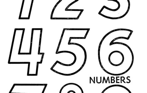 coloring pages for numbers 1 10 coloring pages numbers 1 10 places to visit pinterest