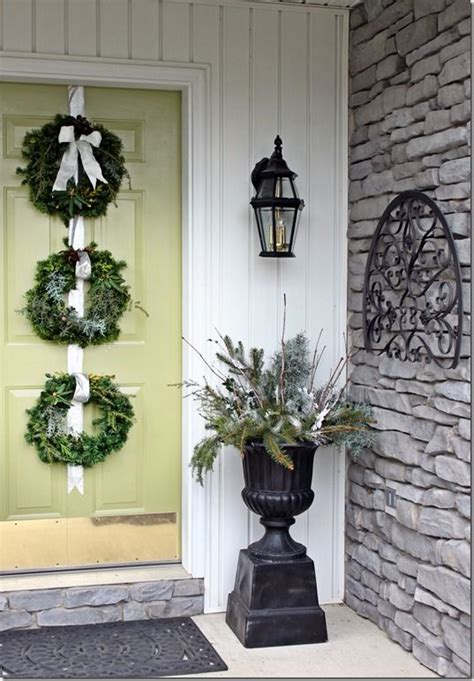 Front Door Winter Decorating Ideas by Winter Porch Arrangement Front Porch Ideas
