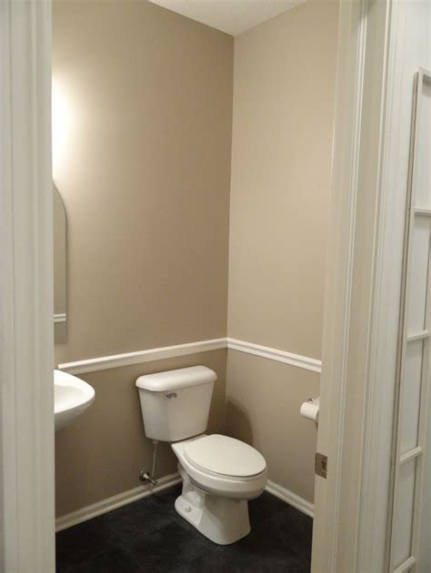 bathroom with chair rail bathroom ideas pinterest
