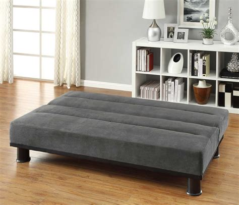 homelegance callie click clack sofa bed graphite grey